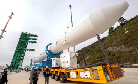 South Korea launches first homegrown space rocket