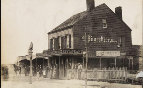 Country Life At The St. Nicholas Lagerbier House Restaurant And Salon In Harlem NY, 1885